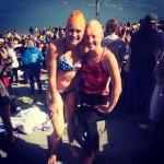 Jess and Kate, post-swim!