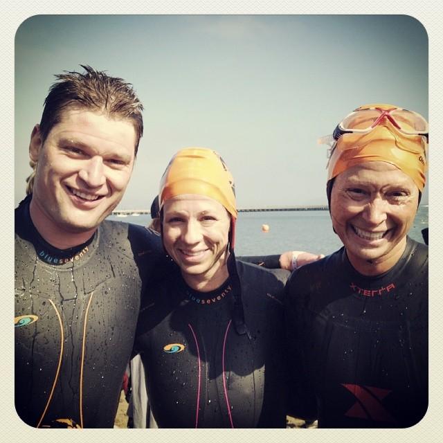Some of the Fin Fam Post-swim!