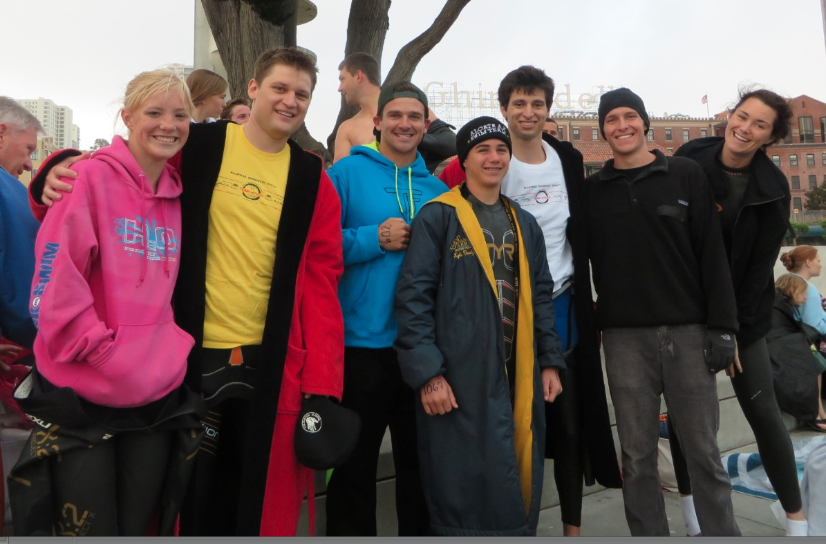 Happy swimmers before taking the plunge!