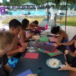 Kids made cards for pediatric patients with hydrocephalus